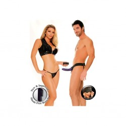 Strap-On unisex Hollow Fantasy cu vibratii
