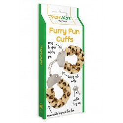 Catuse cu Plus Furry Fun Cuffs - Leopard