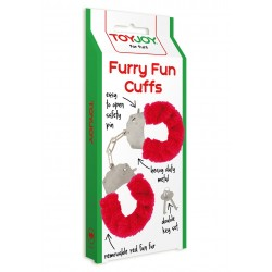 Catuse cu Plus Furry Fun Cuffs - Rosu